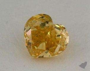 heart0.74 Carat fancy intense yellow