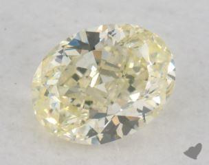 oval0.55 Carat fancy light greenish yellow