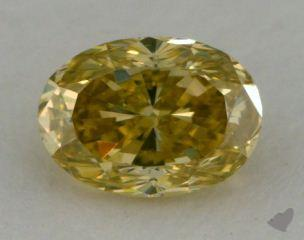 oval0.54 Carat fancy greenish yellow