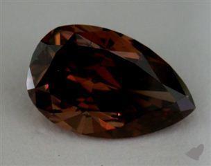pear1.86 Carat fancy deep purple brown