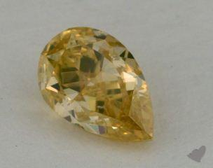 pear0.52 Carat fancy brownish yellow