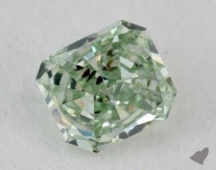 radiant0.10 Carat fancy intense yellowish green
