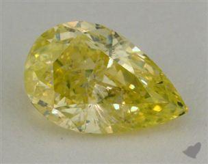 pear0.94 Carat fancy intense greenish yellow