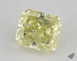 radiant0.57 Carat fancy light yellow