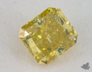 radiant0.52 Carat fancy intense yellow