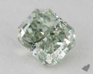 radiant0.41 Carat fancy intense green
