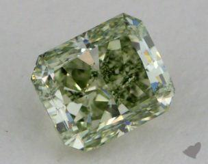 radiant0.50 Carat fancy intense yellowish green