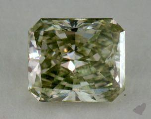 radiant0.50 Carat fancy greenish yellowish green