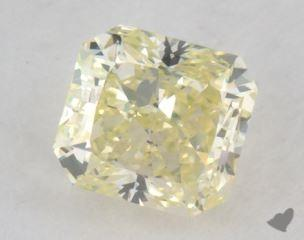 radiant0.51 Carat fancy light greenish yellow