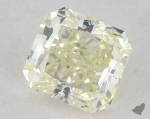 radiant0.35 Carat fancy light greenish yellow