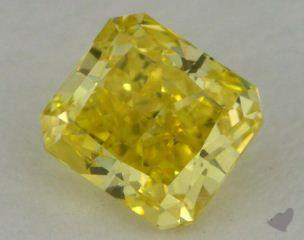 radiant0.53 Carat fancy vivid yellowVS2