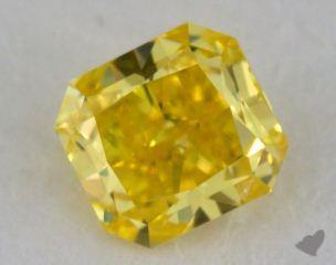 radiant0.52 Carat fancy vivid yellow