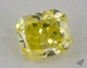 radiant0.55 Carat fancy intense greenish yellow