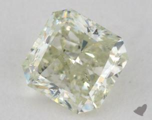 radiant0.65 Carat fancy light greenish yellow