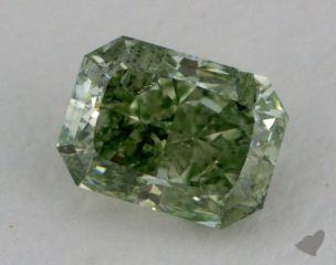 radiant0.60 Carat fancy intense green