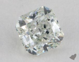 radiant0.67 Carat fancy light green