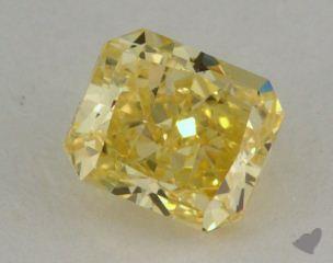 radiant0.62 Carat fancy intense yellow