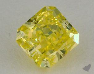 radiant0.74 Carat fancy intense greenish yellow