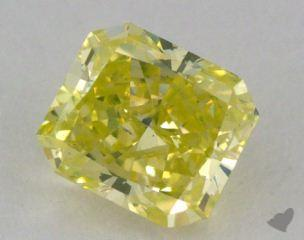 radiant0.77 Carat fancy intense greenish yellow