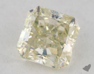 radiant0.96 Carat fancy light greenish greenish yellow