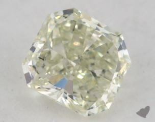 radiant0.88 Carat fancy light yellowish green