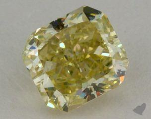 radiant0.85 Carat fancy greenish yellowVS1
