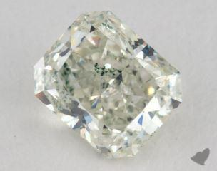radiant0.78 Carat fancy light yellowish green
