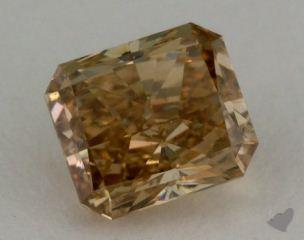 radiant1.01 Carat fancy brownish yellowSI1