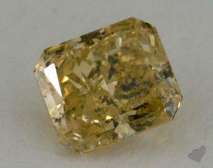 radiant0.92 Carat fancy brownish yellow