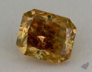 radiant1.08 Carat fancy deep brownish yellow