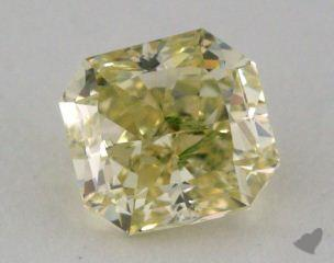 radiant1.04 Carat fancy greenish greenish yellow