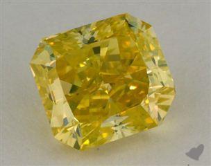 radiant1.30 Carat fancy vivid greenish yellowVS1