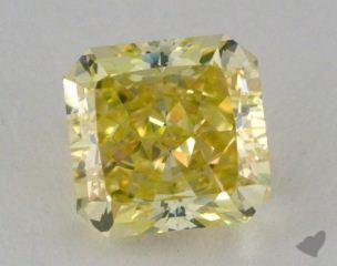 radiant1.05 Carat fancy greenish yellowSI1