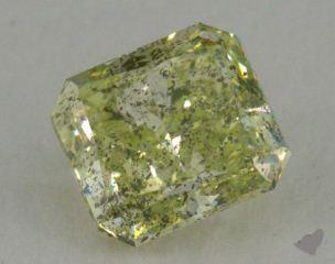 radiant1.02 Carat fancy yellowish green