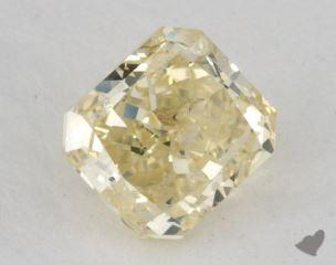 radiant1.30 Carat fancy light greenish yellow