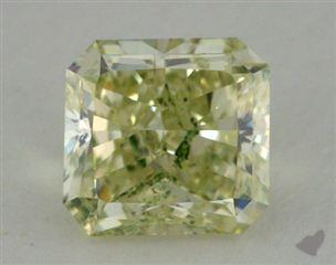 radiant3.05 Carat fancy greenish yellow