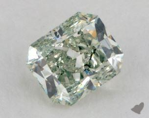radiant1.54 Carat fancy green