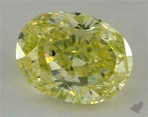 oval3.06 Carat fancy greenish yellow