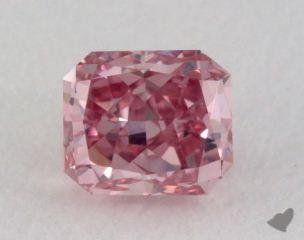 radiant0.18 Carat fancy intense purplish pink