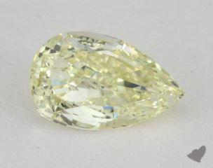 pear0.98 Carat fancy light yellowVS1