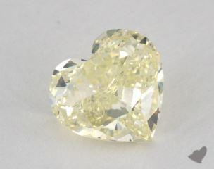 heart0.75 Carat fancy light greenish yellowVS1