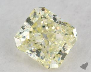radiant0.81 Carat fancy light greenish yellow