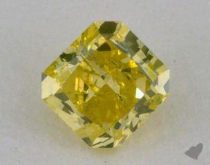 radiant0.50 Carat fancy intense greenish yellow