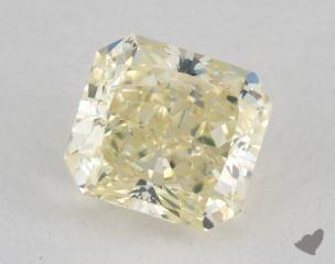 radiant1.21 Carat fancy light greenish yellowVS2