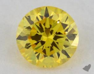 round0.19 Carat fancy vivid yellow