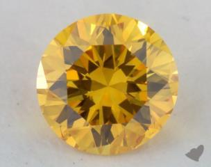 round0.27 Carat fancy vivid orange yellow