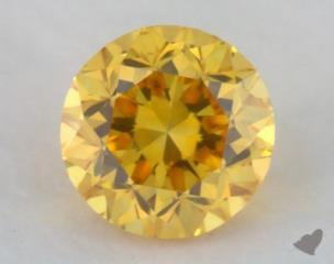 round0.20 Carat fancy vivid orange yellow