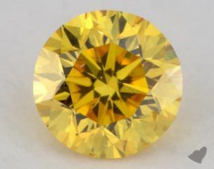 round0.25 Carat fancy vivid yellow