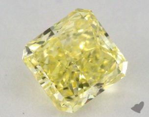 radiant1.31 Carat fancy intense yellowVVS1