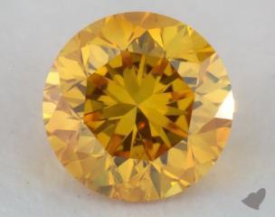 round0.48 Carat fancy vivid orange yellow